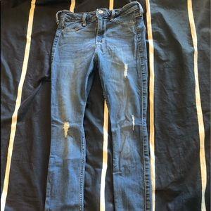 high waisted hollister jeans